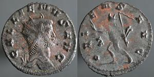 Antoniniano de Galieno. ORIENS AVG. Roma Erf_ri1409t