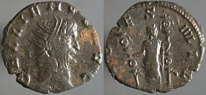 Antoniniano 'repintado' de Galieno. FIDES MILITVM. Mediolanum Erf_ri2813t
