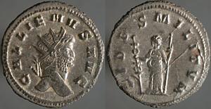 Antoniniano de Galieno. FIDES MILITVM Erf_ri2951t