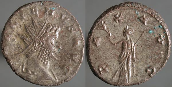 Antoniniano de Galieno. PAX AVG. Roma? Erf_ri3008