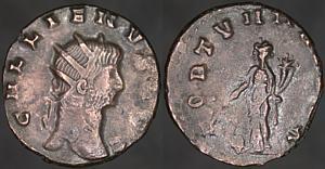Antoniniano de Galieno. FORTVNA REDVX. Roma Erf_ri3282t