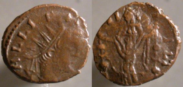 Antoniniano 'repintado' de Galieno. FIDES MILITVM. Mediolanum Erf_ri3737